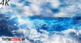 دانلود فوتیج انتزاعی پرواز میان ابرهادر آسمان روز Abstract Blue And White Clouds In Daytime Sky