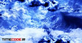 دانلود فوتیج انتزاعی آسمان با ابرهای آبی Abstract White And Blue Clouds