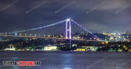 دانلود عکس پل بسفر استانبول  Bosphorus Bridge At Night