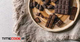 دانلود عکس شکلات تلخ  Dark Chocolate With Cocoa