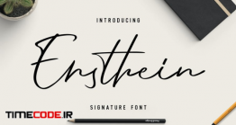 دانلود فونت انگلیسی گرافیکی به سبک امضا Ensthein – Signature Script