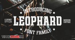 دانلود فونت انگلیسی کلاسیک  Leophard – Font Family