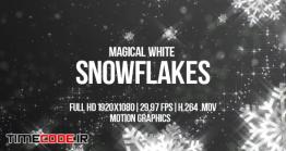 دانلود فوتیج بارش برف Magical White Snowflakes