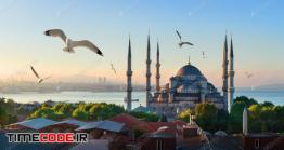 دانلود عکس مسجد استانبول  Mosque And Bosphorus In Istanbul