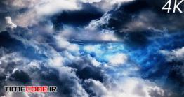 دانلود فوتیج آسمان شب با ابر Night Sky With Clouds