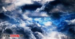 دانلود فوتیج آسمان شب با ابرNight Sky With Clouds