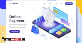 دانلود قالب PSD لندینگ پیج : پرداخت آنلاین Online Payment – Landing Page