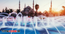 دانلود عکس مسجد سلطان احمد در استانبول  Sultan Ahmed Mosque Illuminated Istanbul