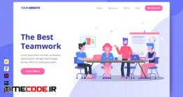 دانلود قالب PSD لندینگ پیج : کار گروهی Teamwork – Landing Page