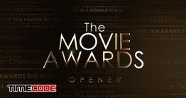 دانلود پروژه آماده افترافکت : وله اعلام جوایز و کاندیدا The Movie Awards Opener