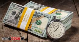 دانلود عکس مفهومی پول و زمان  Time Is Money