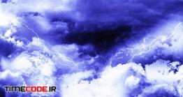 دانلود فوتیج رعد و برق در آسمان همراه باران Dark Night Thunder Clouds with Rain and Lightnings