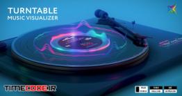 دانلود پروژه آماده افترافکت : اکولایزر Turntable Music Visualizer