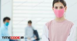 دانلود عکس دختر با ماسک بهداشتی  Unrecognizable Girl In Face Mask