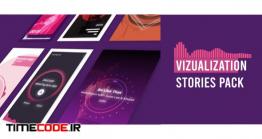 دانلود پروژه آماده افترافکت : اکولایزر برای اینستاگرام Visualizer Audio Stories Instagram