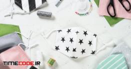 دانلود عکس ماسک بهداشتی خانگی  Zero Waste Face Mask, Virus Protection