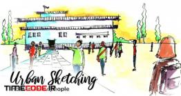 دانلود آموزش اسکیس مردم  Urban Sketching: How To Draw People