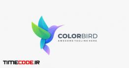 دانلود فایل لایه باز لوگو پرنده رنگی Bird Colorful Gradient Logo Template