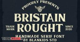 دانلود فونت انگلیسی کلاسیک  Bristain Rought Serif Font