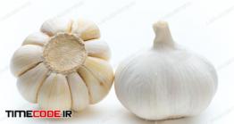 دانلود عکس سیر  Garlic Isolated On The White Background