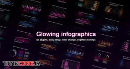 دانلود پروژه آماده افترافکت : نمودار و چارت اینفوگرافی Glowing Infographics