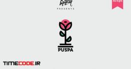 دانلود فایل لایه باز لوگو گل Puspa Logo Template