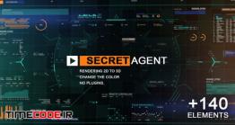 دانلود پروژه آماده افترافکت : المان های فیلم علمی و تخیلی  Secret Agent
