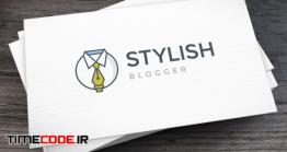 دانلود فایل لایه باز لوگو پوشاک مردانه Stylish Blogger Logo Template
