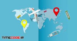 دانلود پروژه آماده افترافکت : لوگو موشن آژانس هواپیمایی Travel Logo