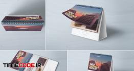 دانلود 4 موکاپ تقویم رومیزی Table Calendar Mockup