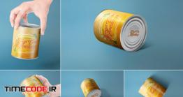 دانلود رایگان 5 موکاپ قوطی کنسرو Can Packaging Mockups