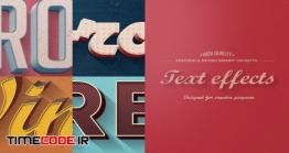 دانلود افکت متن مخصوص فتوشاپ Retro Vintage Text Effects