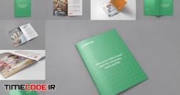 دانلود موکاپ بروشور و مجله  A4 Brochure And Magazine Mockups