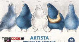 دانلود 61 براش قلمو نرم افزار پروکریت Artista Procreate Brushes