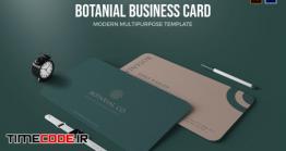 دانلود فایل لایه باز کارت ویزیت Botanial Card – Business Card