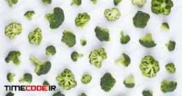 دانلود عکس کلم بروکلی  Broccoli Pattern Isolated.