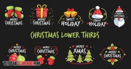 دانلود پروژه آماده افترافکت : زیرنویس کریسمس Christmas Lower Thirds