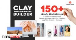 دانلود پروژه آماده افترافکت : تیزر معرفی اپلیکیشن Clay Web App Promo Builder