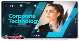 دانلود پروژه آماده افترافکت : اسلایدشو معرفی شرکت Corporate Technology Achievements. Slideshow