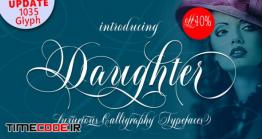 دانلود فونت انگلیسی پیوسته  Daughter Script