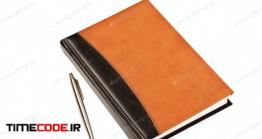 دانلود عکس تقویم با خودکار Diary And Pen On Table Isolated