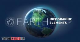 دانلود پروژه آماده افترافکت : کیت اینفوگرافی کره زمین Earth Infographic Elements