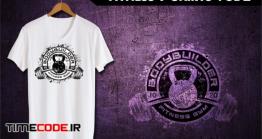 دانلود طرح لایه باز تی شرت ورزشی Fitness T-Shirt Template