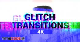 دانلود پروژه آماده فاینال کات پرو : ترنزیشن نویز و پارازیت Glitch Transitions 4K