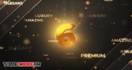دانلود پروژه آماده افترافکت : شمارش معکوس طلایی Gold Countdown Intro