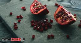 دانلود عکس انار Halves Of Pomegranate With Seeds