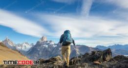 دانلود عکس کوه نورد Hike In Patagonia