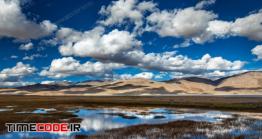 دانلود عکس آسمان آفتابی  Lake Tso Moriri In Himalayas