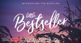 دانلود فونت انگلیسی گرافیکی  Little Bestseller Script Font