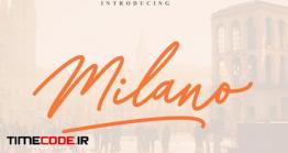 دانلود فونت انگلیسی گرافیکی به سبک امضا Milano Signature Font